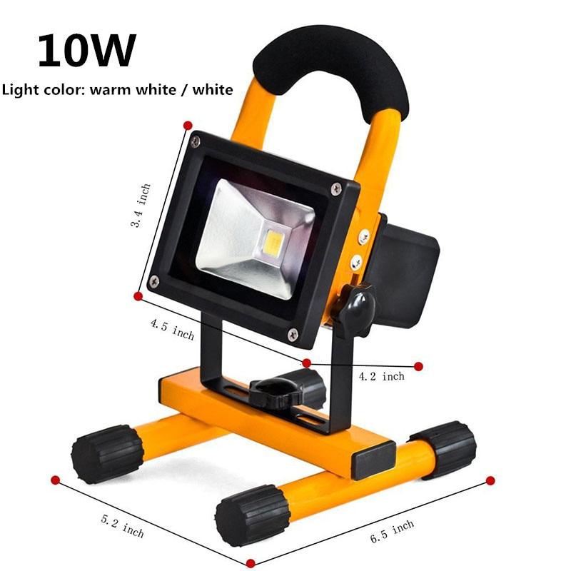 10w 20w waterproof outdoor led flood lighting rechargeable led emergency lamp portable spotlight. Black Bedroom Furniture Sets. Home Design Ideas