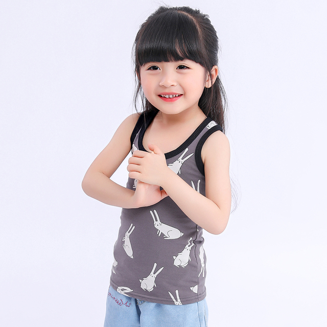 SheeCute 2-pack chindren Sleeveless T Shirt girls boys Undershirts Tank Top A Shirt 0932 3