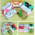5PCS/LOT summer baby Rompers Newborn Baby Clothes Short Sleeve Girl Boy Clothes Cartoon printing Design 100% Cotton de bebe