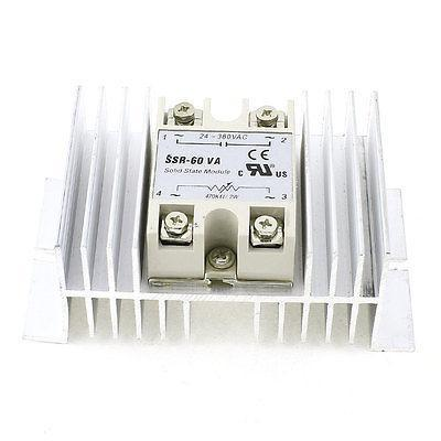 470K Ohm 2W to AC 24-380V 60A Aluminum Heatsink Single Phase Solid State Relay high quality ac ac 80 250v 24 380v 60a 4 screw terminal 1 phase solid state relay w heatsink