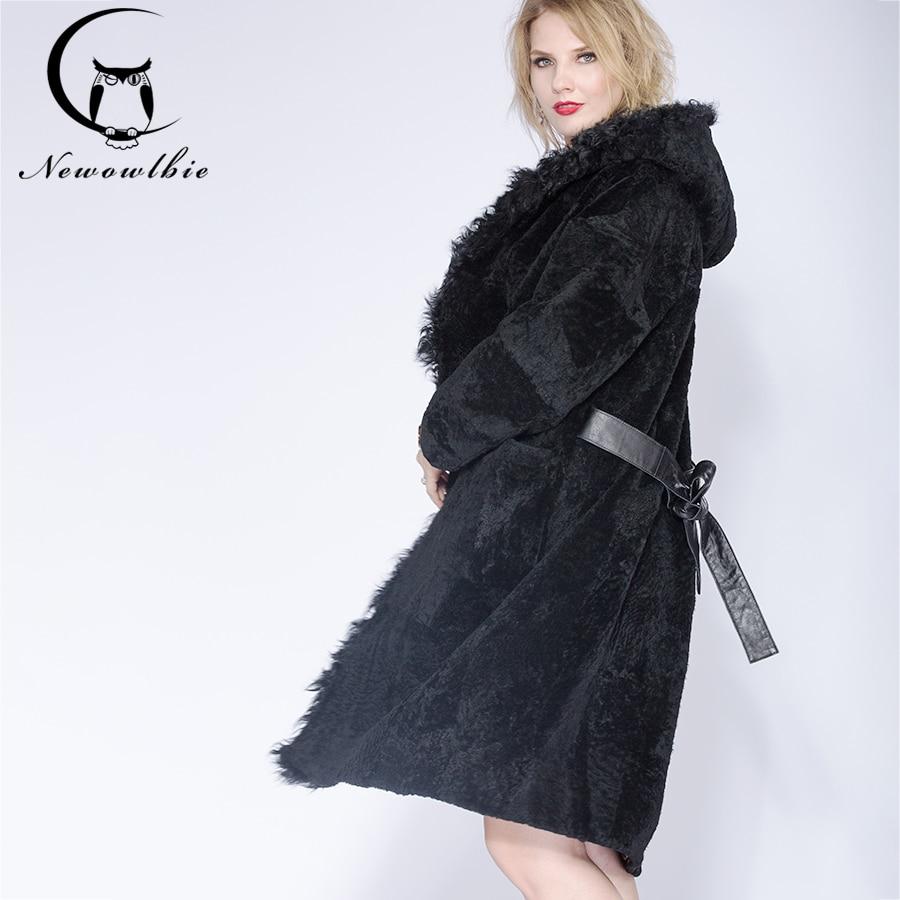 2018 Moutons berger de femmes auto-culture manteau d'hiver, hiver sexy pyjamas section réel manteau de fourrure, agneau cheveux chapeau manteau