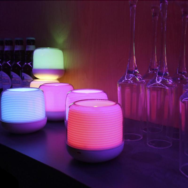 1pc Smart Remote Candle USB Charge Candle Holders Timer RGB Changeable Light Color Flameless LED fancy purple led flameless candle