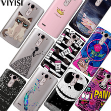 VIYISI For LG G6 Q6 G4 G5 Phone Case Coque X Power2 Q8 K7 K8 K10 2017 Fundas Crown Cat Feather Etui Soft Silicone Back Cover