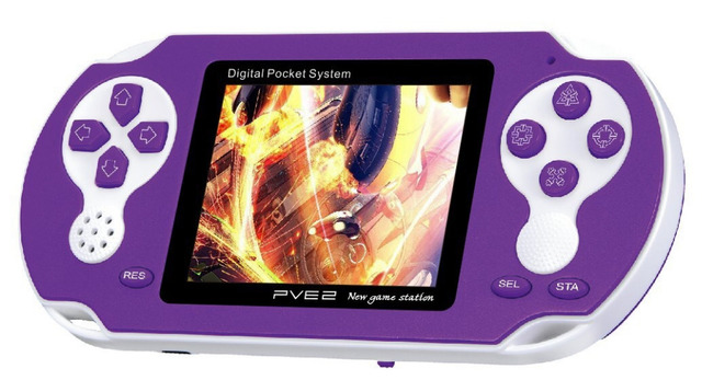 PVE250 Estación de Juego de Video Consola de juegos con la Tarjeta de Juego, más de 200 Juegos pantalla de 2.5 '', salida de TV,
