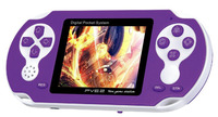 PVE250 Game Station Video Game Console With Game Card 200 Games 2 5 Screen TV Out