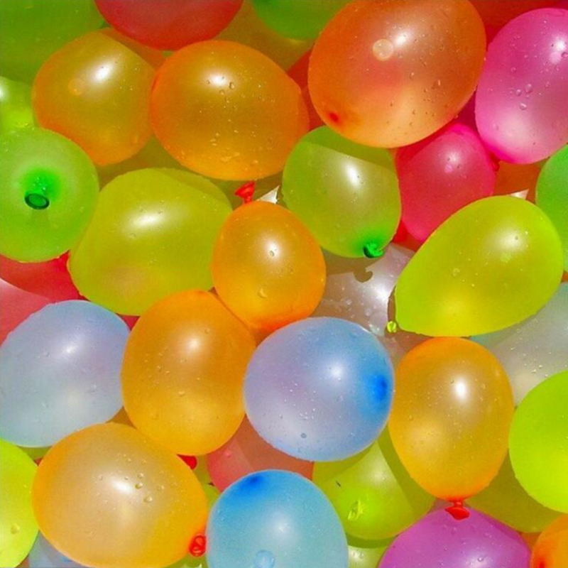 water <font><b>ballons</b></font> <font><b>500pcs</b></font>/lot Multi-color Small Balloons Gun Target Apple Ball Swimming Pool Water Balloon Birthday Party Supplies image
