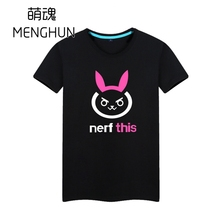 Hot ow game t shirts OW DVA T SHIRTS dva nerf this hana song daily wear cotton colorful game fans t shrits ac42