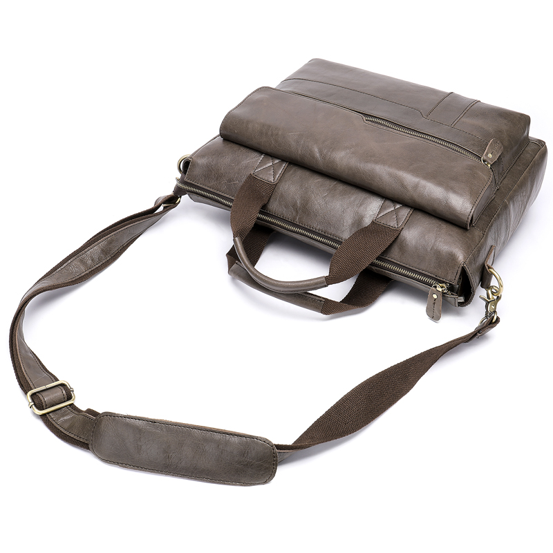 Livraison directe 100% véritable mallette en cuir pour homme sac à main d'affaires homme ordinateur portable sacs à bandoulière fourre-tout peau naturelle hommes mallette