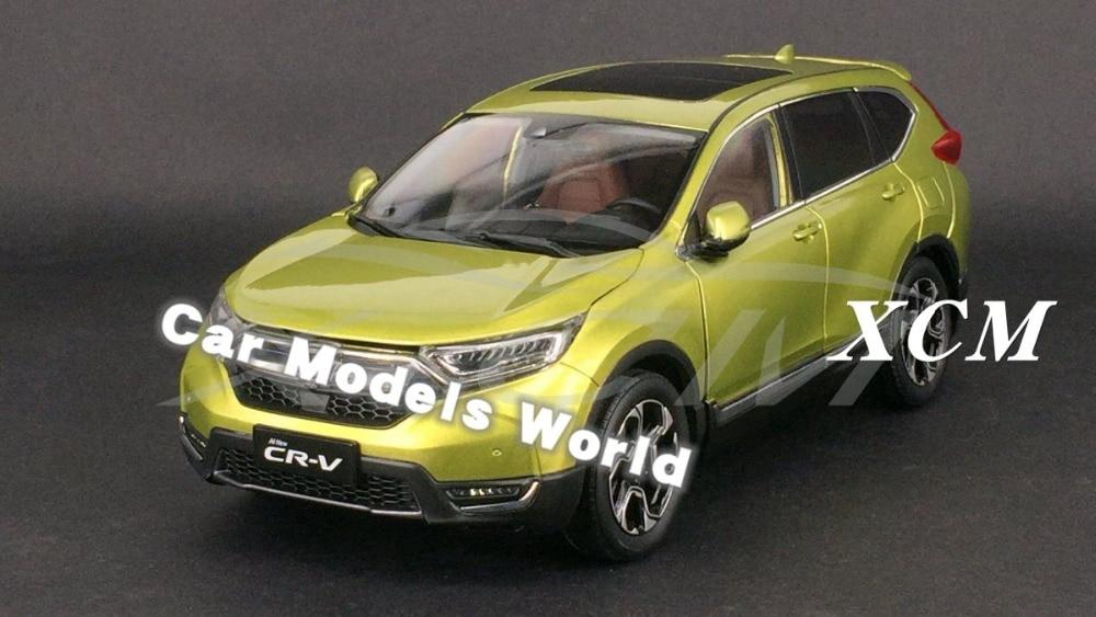Diecast Car Model for New CR V CRV SUV 2017 1 18 Yellow SMALL GIFT