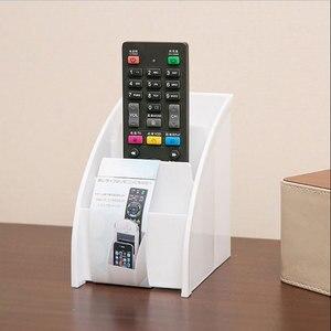 Image 5 - Soporte de plástico para mando a distancia de TV, soporte para teléfono móvil, cajas de almacenaje para oficinas, estuche de almacenamiento para escritorio