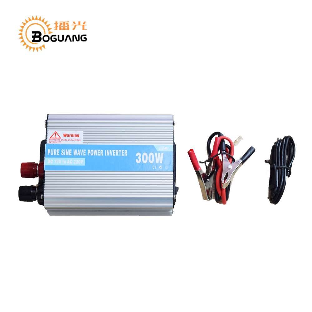 BOGUANG 110v 220v 300w mini solar inverter 12v DC Output for olar panel cable outdoor RV Marine car home camping off grid boguang 6x100w solar system kits 600w flexible solar panel controller inverter cable adaptor for12v 24v rv marine camping home