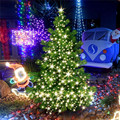 1*13.5M 120LED Outdoor Waterproof String Lights Copper Wire Solar Power Super Bright Colorful LED String Lights for Christamas
