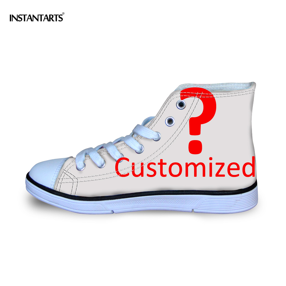 INSTANTARTS Custom Your Own Logo/Image/Photo Printing Children Casual Shoes Diy Your Design High Top Canvas Shoes for Boys Girls cute lovely color pencil drawing tutorial art book