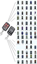 Universal Cloning Electric Gate Garage Door Remote Control Key Fob 433mhz Cloner fixed code