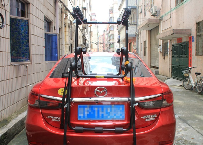 Multi-function Aluminum Car Frame Rear Cycling Bike Bicycle Rack Hold 3 Bicyles Mount Carrier for Car