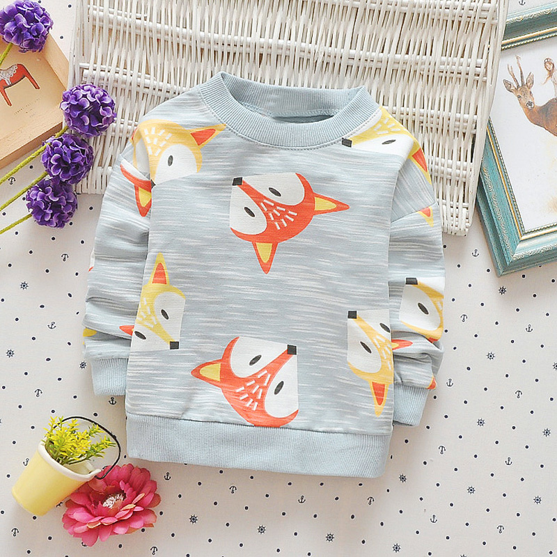 Casual-Autumn-Baby-Babi-Children-Girls-Boys-Infants-Printed-Cartoon-Fox-Cotton-Long-Sleeve-T-shirt-Tops-Tee-Clothes-S5571-5