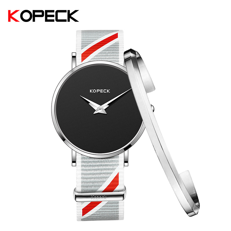KOPECK Fashion Clock Men Watch With Bracelet Brand Luxury Quartz Nylon Watch Male Sport Watches Reloj Hombre Relogio Masculino malloom 2018 clock men luxury brand watch wristwatch men brand sport with leather reloj hombre relogio masculino fashion watch