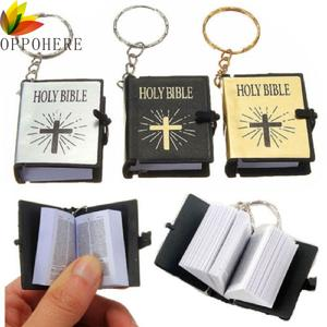 Mini BIBLE Keychain Jesus Christian English Religious Gold Black Colors Wholesale