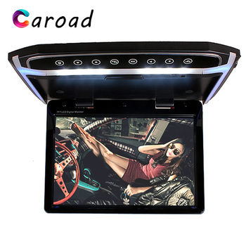 Monitor In Car 12.1 Inch Touch Button TFT LCD Player Built-in FM Transmitter/SD/HDMI Port Car Roof Screen Ceiling TV For Car image