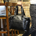 Nova Alta Qualidade PU saco de Viagem De Couro Masculino, homens Viajam Sacos Com Cinto de Ombro, grande Bagagem Bolsa, homens saco Da Bagagem Laptop