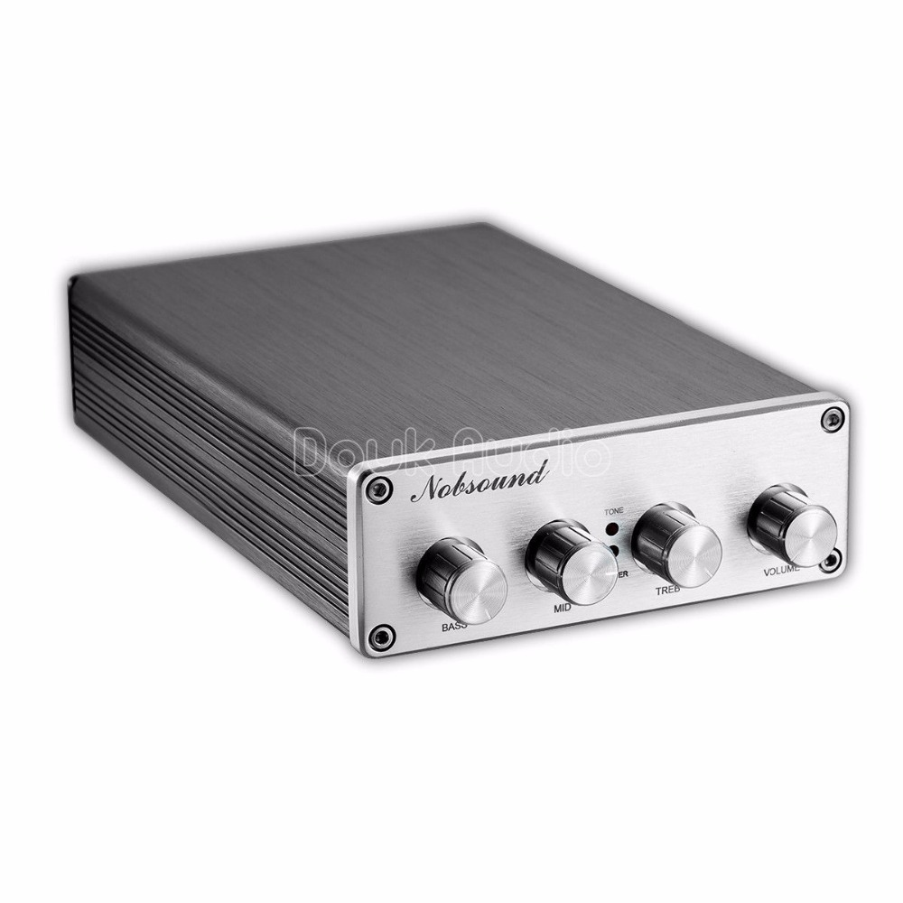 Nobsound HiFi Preamplifier Audio Pre-Amp Treble / Middle / Bass Tone Controller NE5532 *2 / OPA2604 LME49720 / TDA8920 *2 new arrival ne5532 op amp hifi amplifier preamplifier volume tone eq control board diy kits free shipping