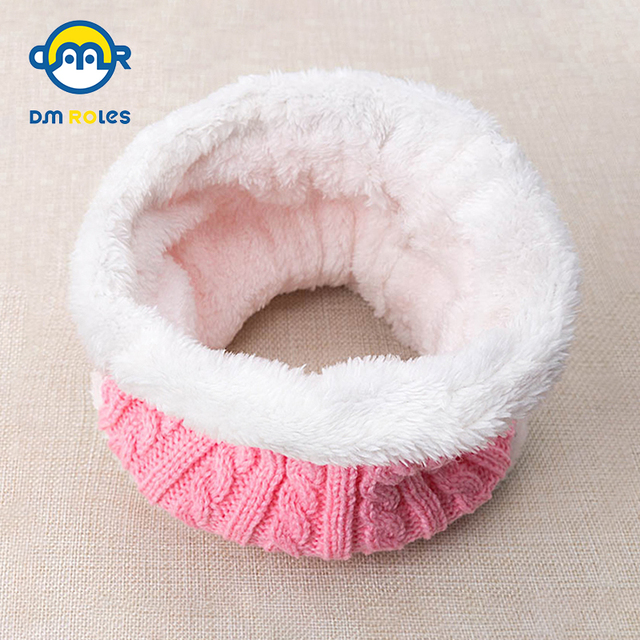 DMROLES 2018 New Baby Winter Children Scarf Kids Scarf For Warm Baby Girls Scarf Scarves Collar Kid Plus Thick Velvet Unisex