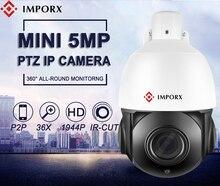 IMPORX 5.0MP PTZ IP Camera Outdoor Waterproof HD 1944P 36X ZOOM Mini Speed Dome H.265 IR-Cut 80M P2P CCTV Security