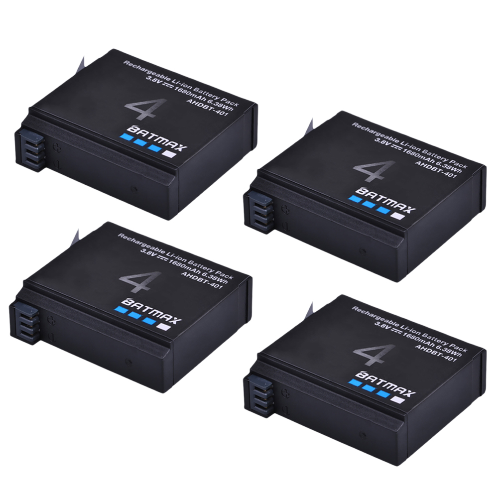 1600mAh batería para GoPro AHDBT 401 Batería Cargador doble para GoPro HD Hero 4