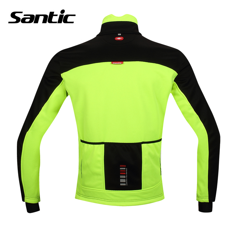 d841421be Santic Men Winter Cycling Jacket Windproof Thermal Fleece Ropa Ciclismo  Invierno Bike Jacket Running Jacket Breathable-in Cycling Jackets from  Sports ...