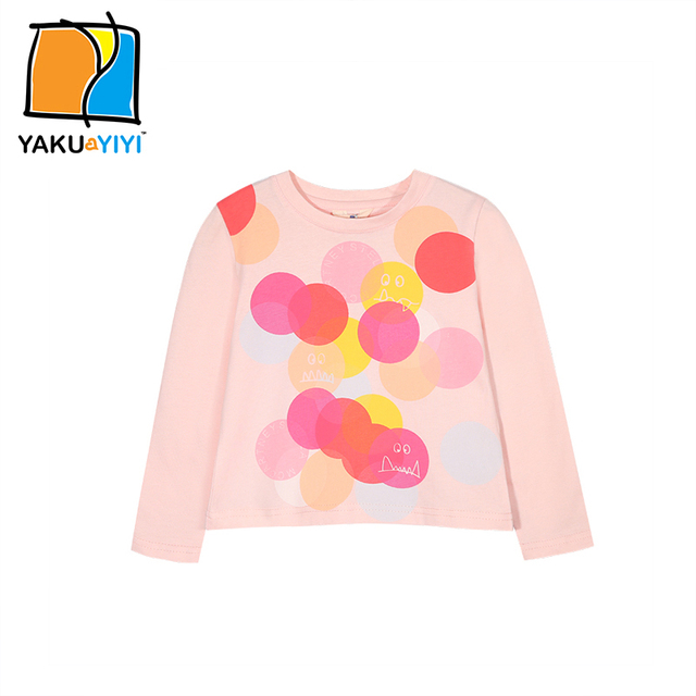 Ykyy yakuyiyi primavera suelta cuello redondo de manga larga niñas sudadera big pink polka dots niñas informal capota niños clothing
