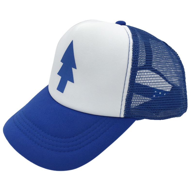 2018 New Unisex New Curved Bill BLUE PINE TREE Dipper Gravity Falls Cartoon Hat Cap Trucker ZM14