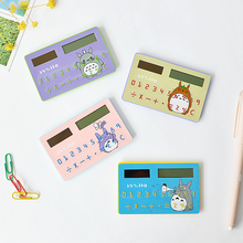 Cartoon animal cute calculator mini portable card calculator School Gift