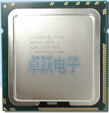Intel Core i7 975 Processor I7 975 cpu LGA1366 Desktop CPU properly Desktop Processo 100% working 975 can work-in CPUs from Computer & Office