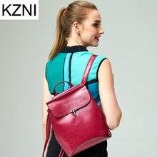 Kzni натуральная кожа кошелек женщин сумка женский рюкзак мешок основной Femme De MARQUE Bolsas feminina L123101