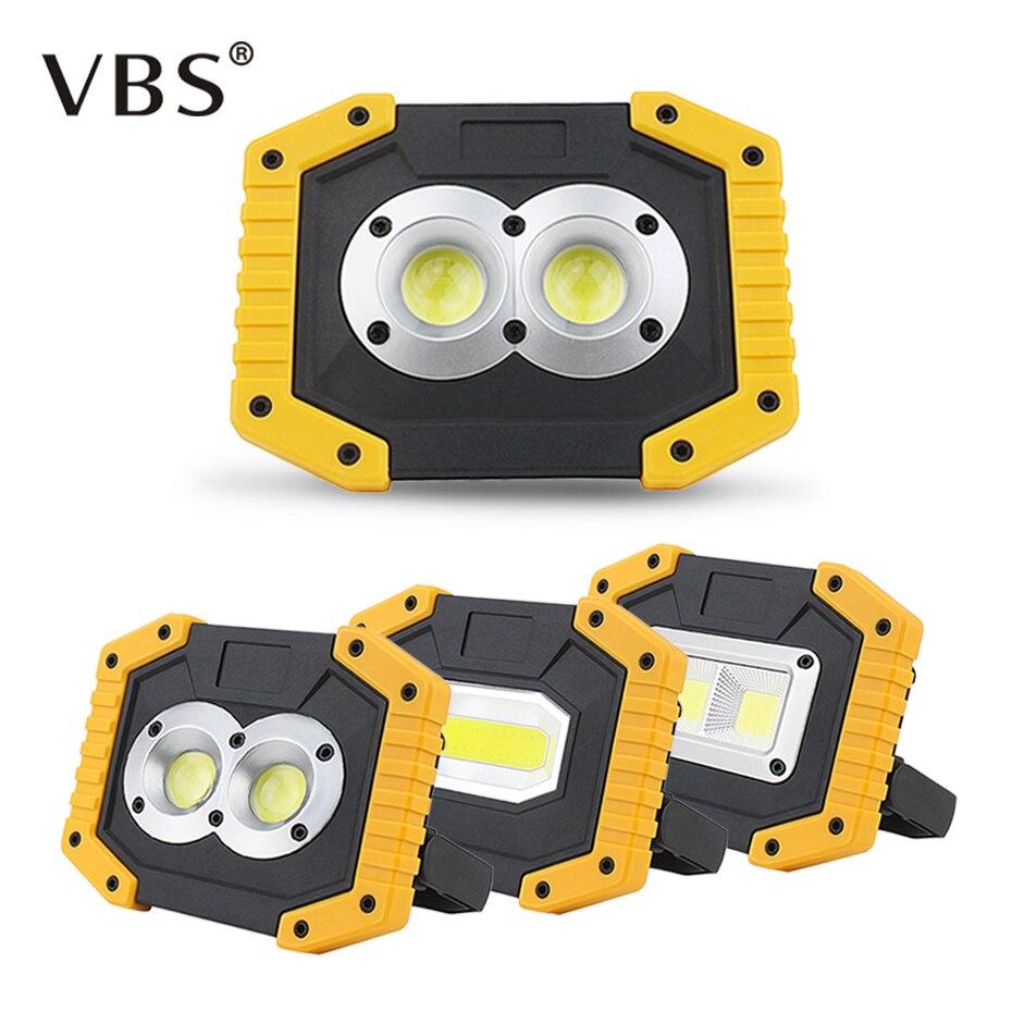 120 Led Cordless Work Light Home Garage Emergency Portable: 20W COB Portable LED Floodlight 400LM Led Spotlights