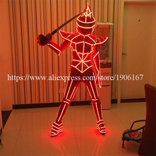 New Design Led Luminous Ballroom Women Costume Robot Suit Sexy Lady Dancing Nightclub Party Stage Dress Clothing
