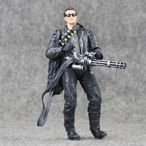 Image 4 - 17cm NECA Terminator 2 T 800 aksiyon figürü Pescadero kıyamet günü hastane bebek PVC Model oyuncak