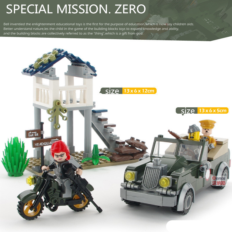 206pcs Special Mission MILITARY WW2 Car SWAT City Soldiers Army Navy Weapon Mini Building Blocks small Figures Toy Boy kids Set 8pcs lot city swat police team military figures set army soldiers with guns dog kids block toy compatible for boy sy607