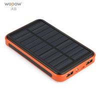 Wopow Solar Power Bank 20000mah Universal Dual USB Ports Outdoor Portable Solar Powerbank Large Capacity Poverbank