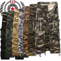 Military Cargo Pants Men Camouflage Tactical Casual Cotton Casual Trousers Men Pantalon Hombre