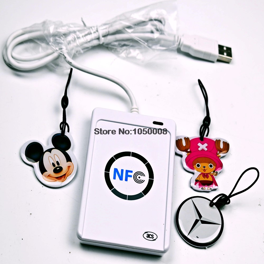ACR122u NFC Reader Writer 13.56Mhz RFID Copier Duplicator + 3pcs UID Changeable Writable Tag +SDK + M-ifare Copy Clone Software 13 56mhz nfc iso 14443a 15693 rfid writer usb yhy638fu sdk software ereader v8 3 6tags