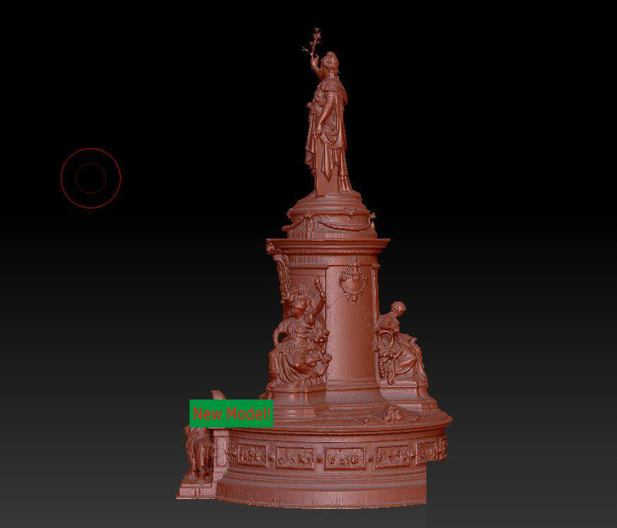 3D model for cnc 3D  CNC machine in STL file format Republic plaza sculpture in Paris 3d model relief for cnc in stl file format rose 1