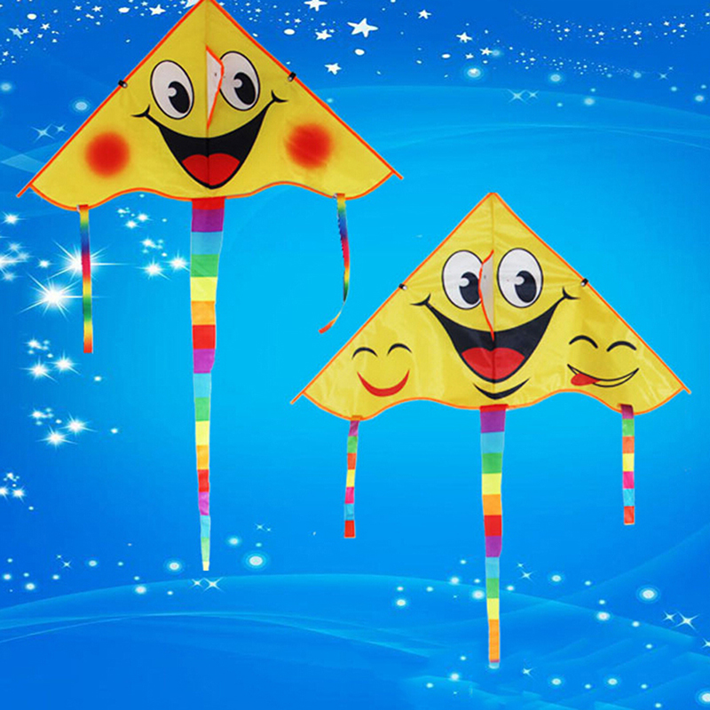 Smile Angel Smiley Sports Beach Toy Design Smiling face kite Smile Stunt Kites Cometa Child Toys image