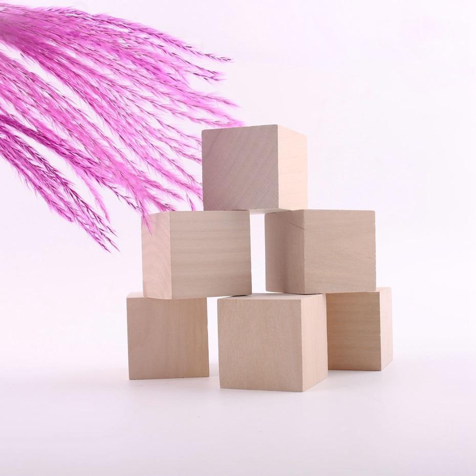 Wohnkultur Cube Montessori Blöcke Handwerk Square Wooden Bead DIY