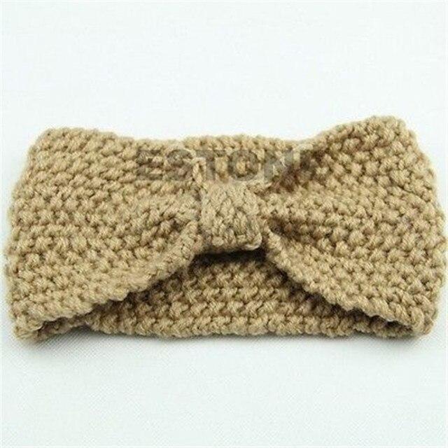 Womens Wool Knitted Headband Knotted Hair Band Ski Hat Earmuffs