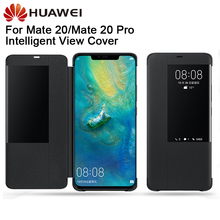 Original Huawei Smart Phone Case Clear View Cover Flip For Mate20 Mate 20 Pro Housing Sleep Function