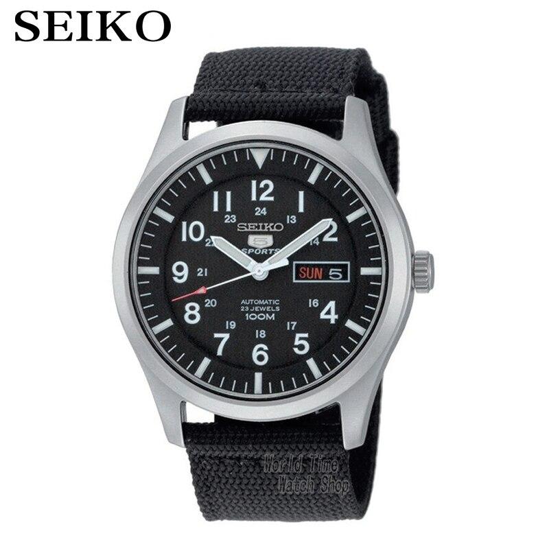 SEIKO часы мужские | Часы seiko № 5 автоматические механические стали Бизнес повседневные Водонепроницаемые мужские часы SNZG15J1 SNZG13J1 SNZG15K1