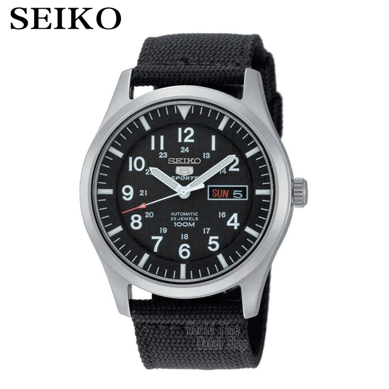 SEIKO Watch No. 5 Automati Mechanical steel waterproof men watch SNZG15J1 SNZG15K1 seiko 5 snke53k1s