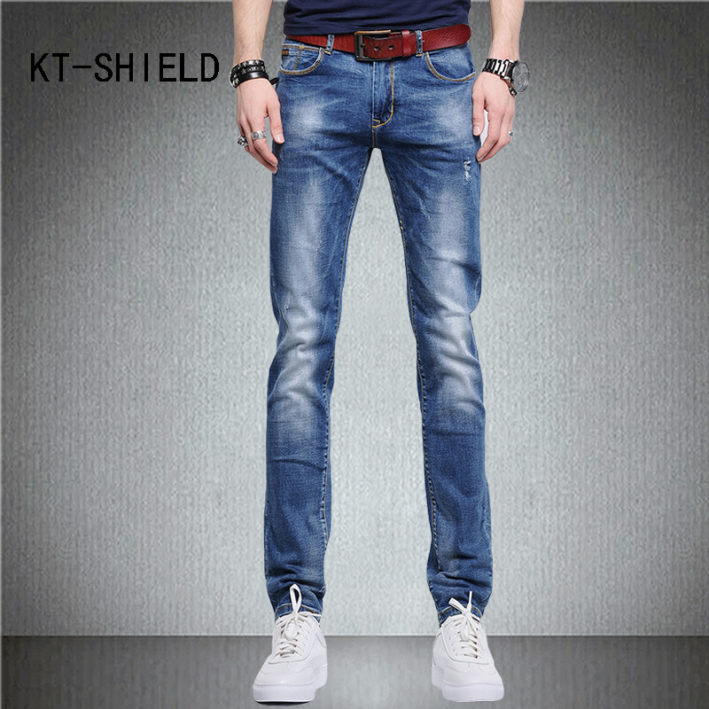 Plus size summer fashion Slim fit men trousers skinny ripped Distressed biker jeans hombre denim pants calca jeans masculina fashion 3d printed embroidery jeans men biker ripped slim full length pants cotton cargo harem casual trousers vaqueros hombre