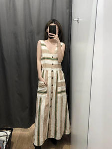 GCAROL 2019 Women Striped Long Design Summer Dress